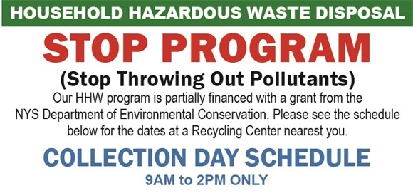 STOP PROGRAM (Stop Throwing Out Pollutants)