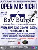 OPEN MIC NIGHT - Bay Burgers