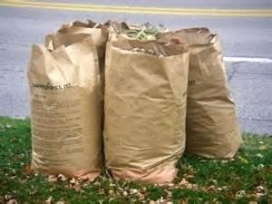 Brown Bags Leaves