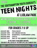 Teen Nights@ Ludlam Park