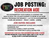 Southampton Youth Bureau is now hiring!