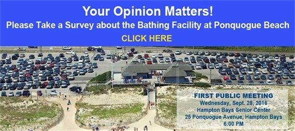 Take a survey about the Bathing Facility at Ponquogue Beach