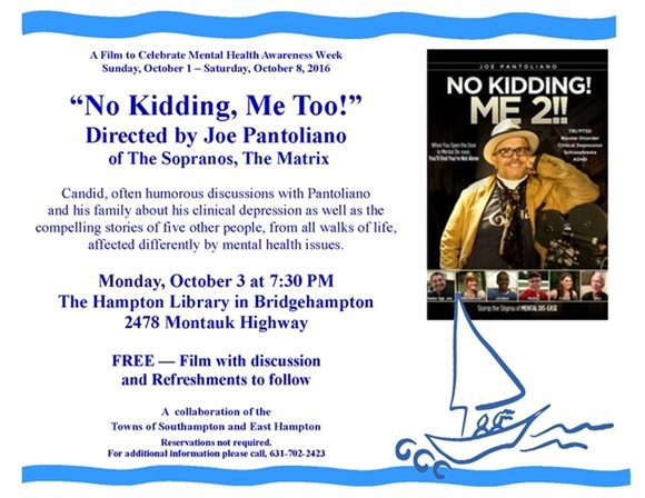 No Kidding, Me 2!  is from Joe Pantoliano