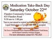 Medication Take Back Day – October 22nd