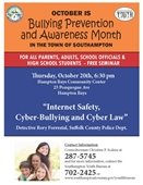 """""""Internet Safety, Cyber-Bullying and Cyber Law"""""""