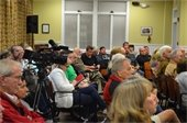 DOZENS ATTEND FIRST REGULAR TOWN BOARD MEETING OUTSIDE TOWN HALL