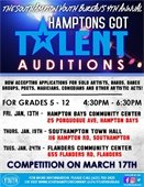 Hamptons Got Talent Audition Flyer