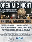 SAVE THE DATE! Open Mic Night at Hampton Coffee Company