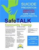 Safe Talk Community Training – Suicide Prevention