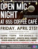 Open Mic Night at 655 Coffee Café