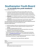 Youth Board Applications