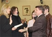 SWEARING-IN AT TOWN HALL