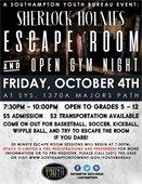 Escape Room & Open Gym Night -