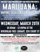 Marijuana: Vaping, Legalization, Medical Workshop