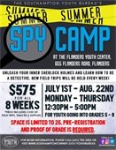 SPY CAMP AT THE FLANDERS YOUTH CENTER