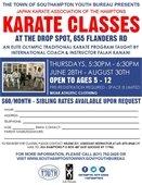Karate Classes at the Drop Spot