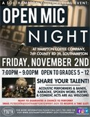 Open Mic Night at Hampton Coffee Company