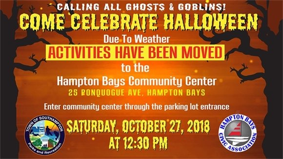 Good Ground Park Halloween Event HAS BEEN MOVED (Due to Weather)