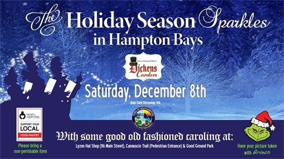 The Holiday Season Sparkles in Hampton Bays with Some Good Old Fashioned Caroling!