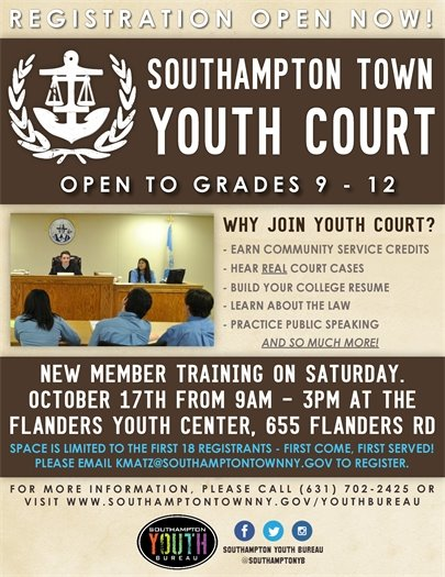 Youth Court New Member Training (1017)