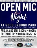 SAVE THE DATE: Open Mic Night at Good Ground Park