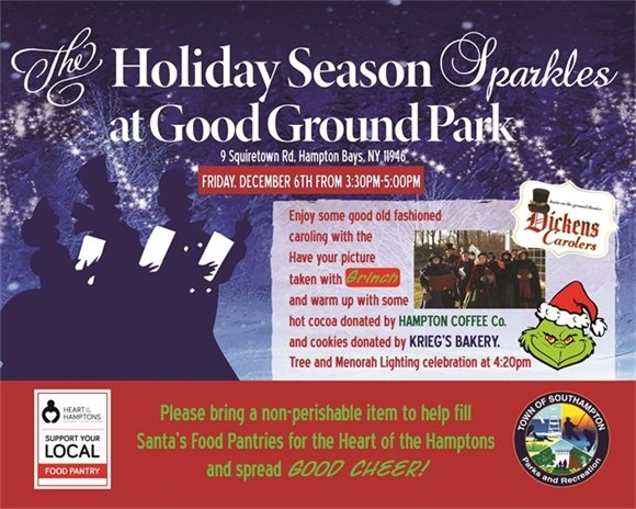 Good Ground Park Sparkle with Some Good Old Fashioned Caroling!