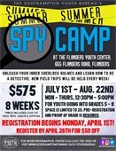 Registration Now Open for Summer Spy Camp