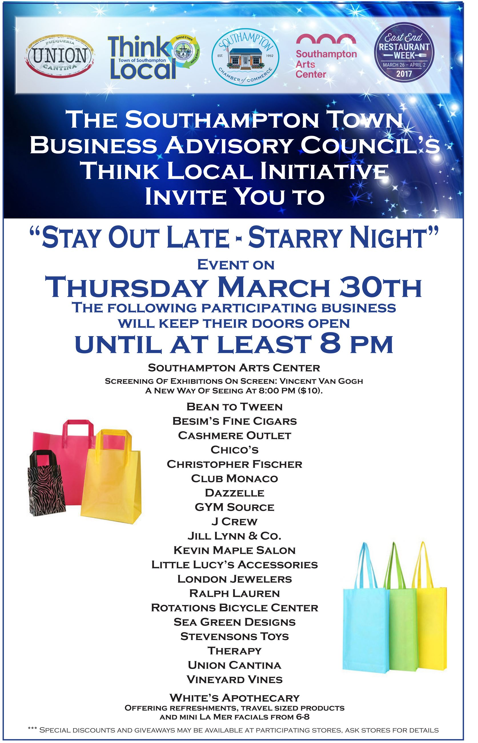 Stay Out Late-Starry Night flyer