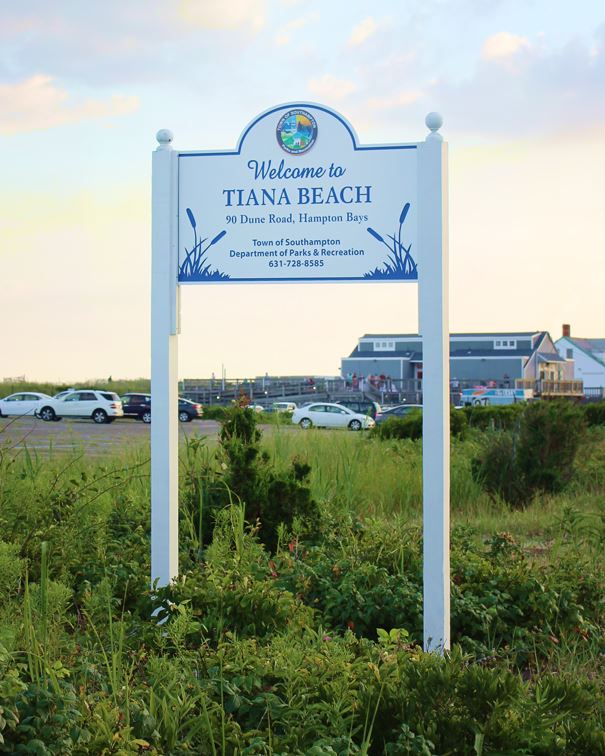 Tiana Beach Sign