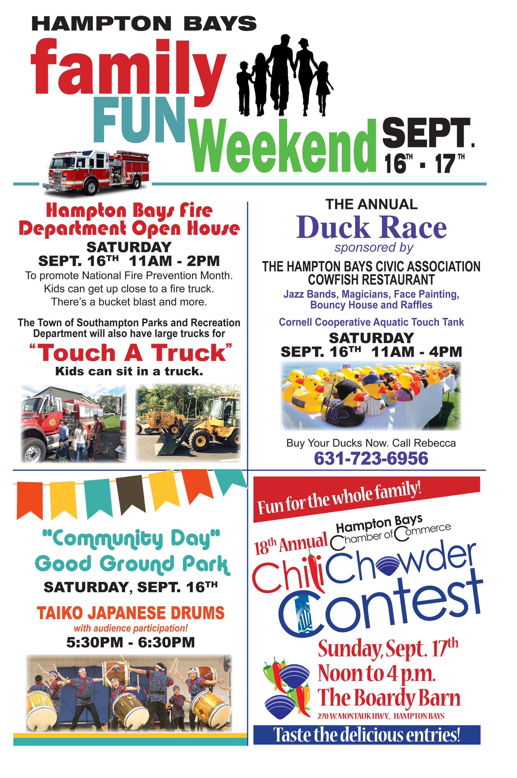 Hampton Bays Family Fun Weekend SeptFinal