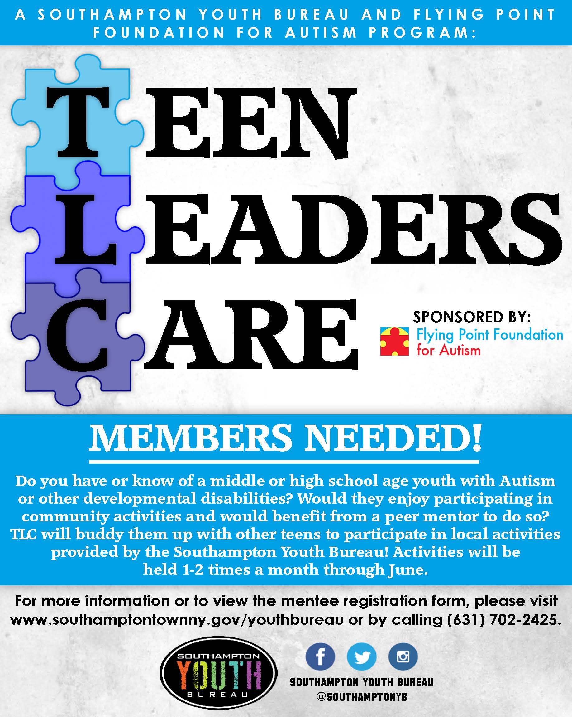Teen Leaders Care Members Flyer