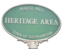 Water Mill Heritage Area Town of Southampton sign