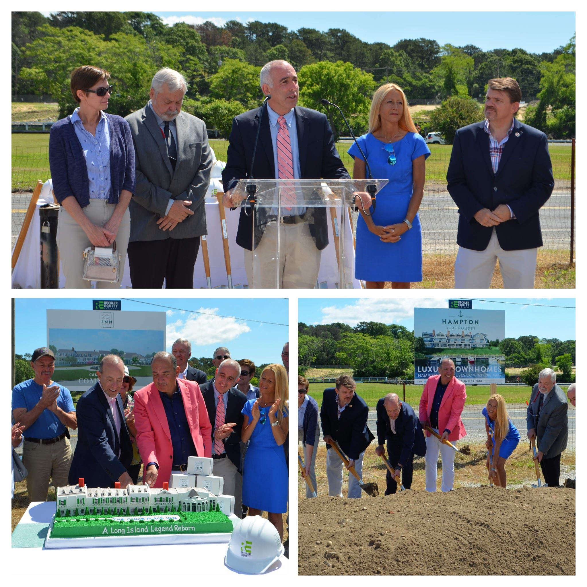 984f6b51fb5  ARCHIVED  Canoe Place Inn ground breaking ceremony Southampton Town Board  members joined Rechler Equity Partn