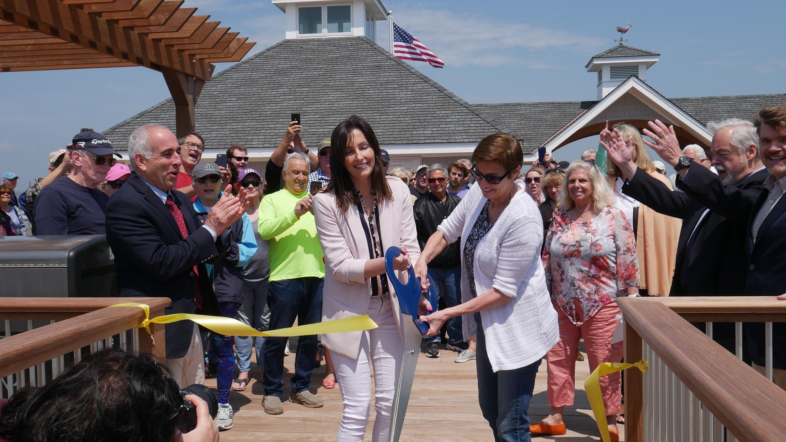 Ponquogue ribbon cutting