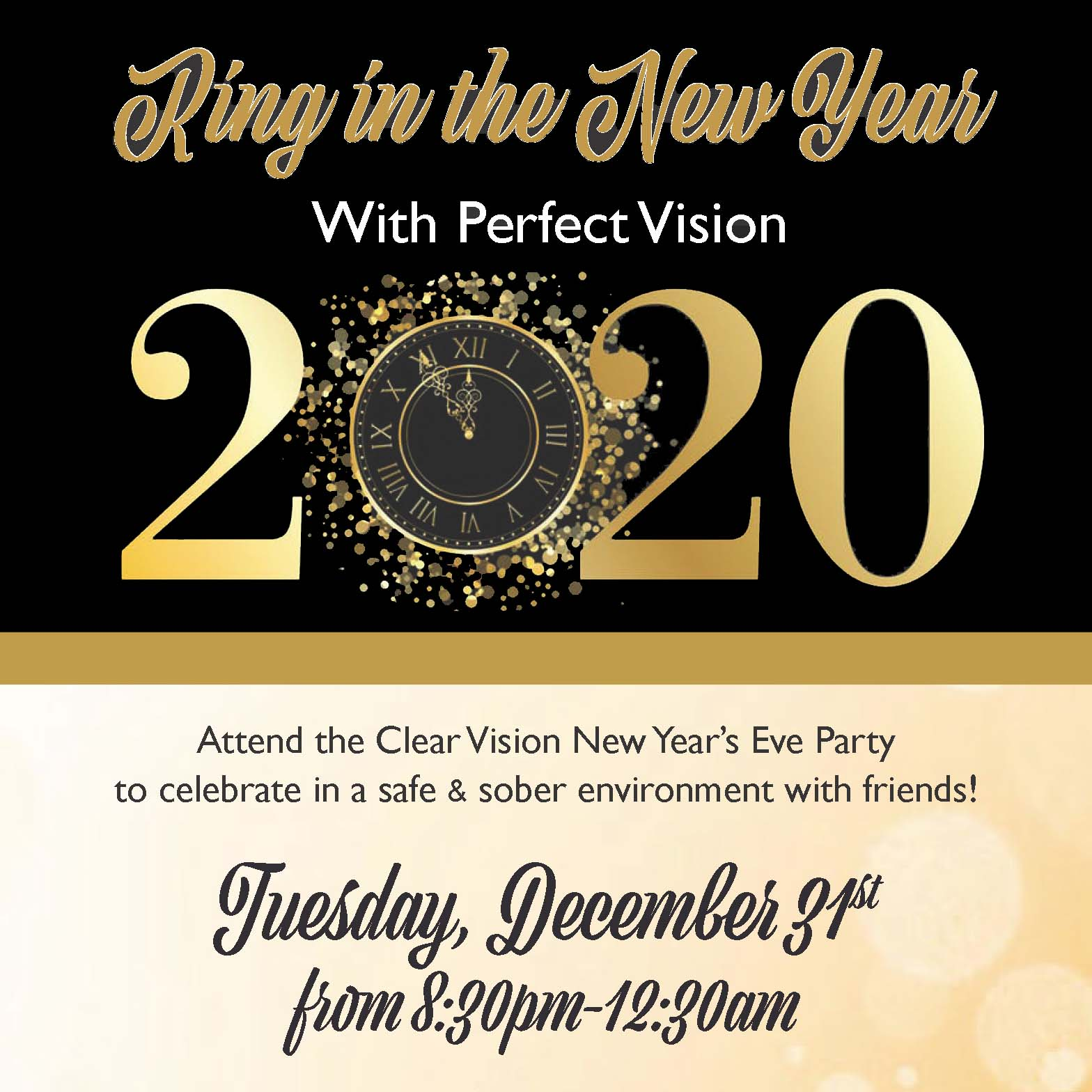 2020 Clear Vision Party poster _1x1