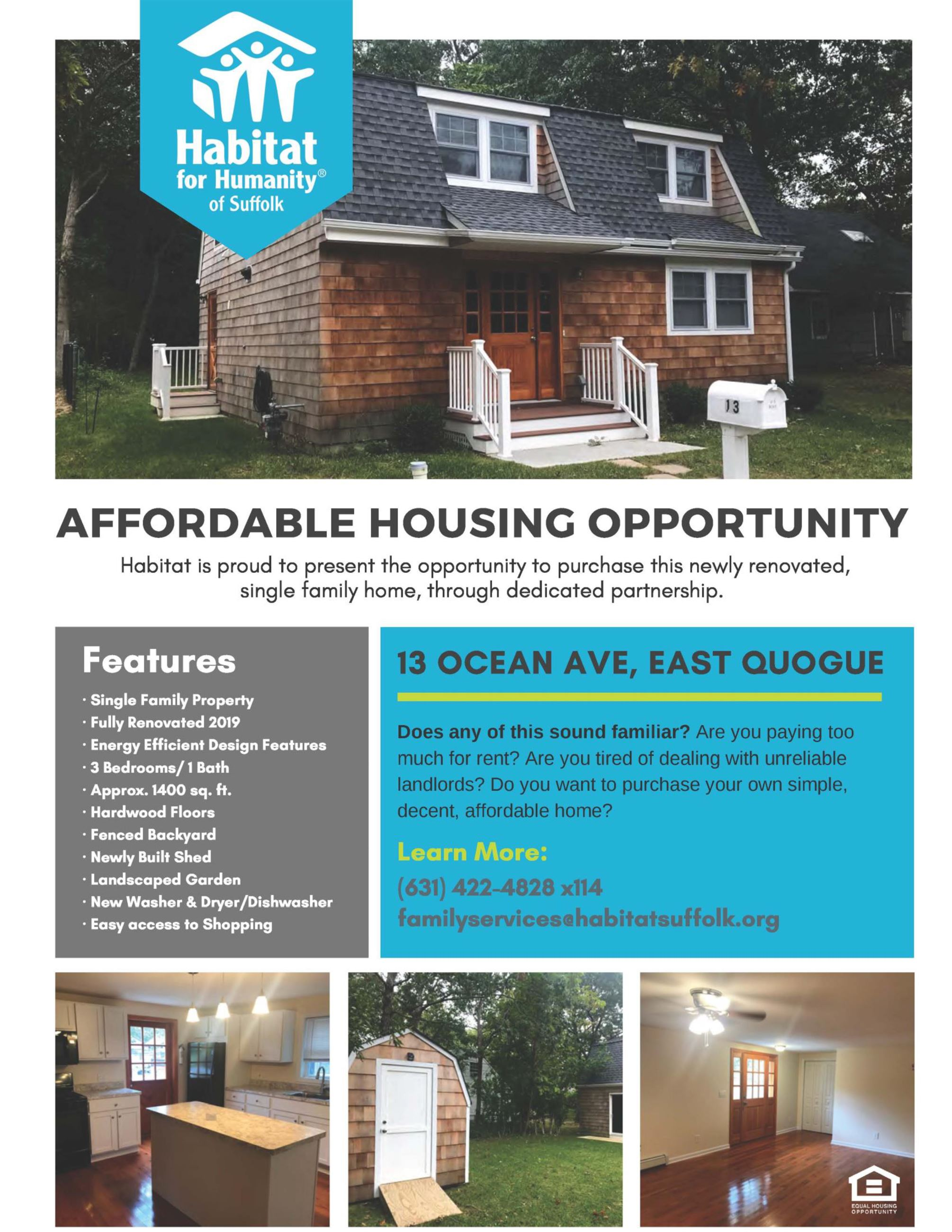 Habitat Suffolk East Quogue Flyer and App info-1