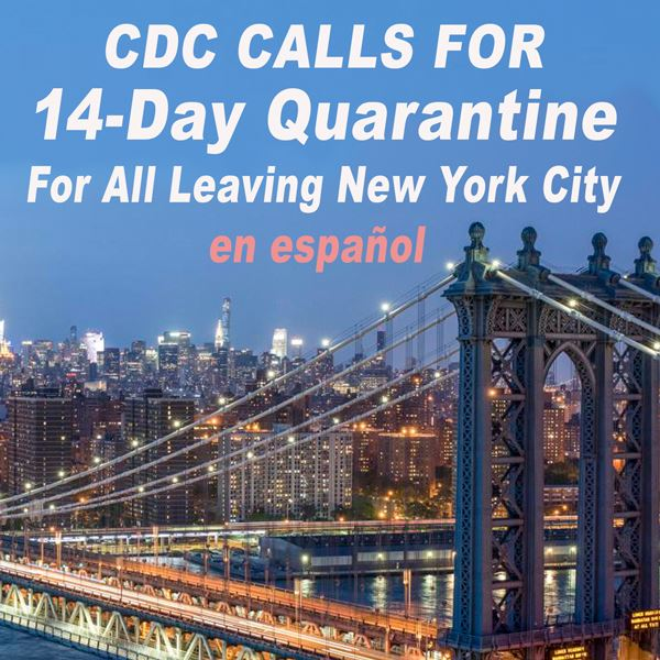 NYC- Self Quarantine for 14 days