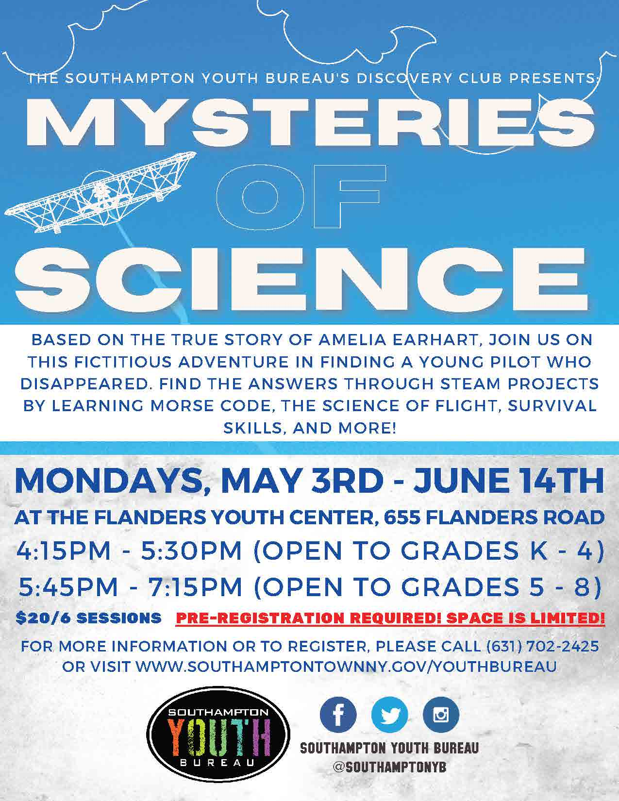 Discovery Club Mysteries of Science Flyer and Registration Form_Page_1