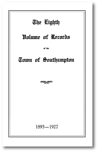 Town Records Book 8