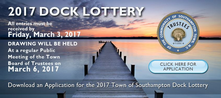 Trustee Dock Lottery 2017