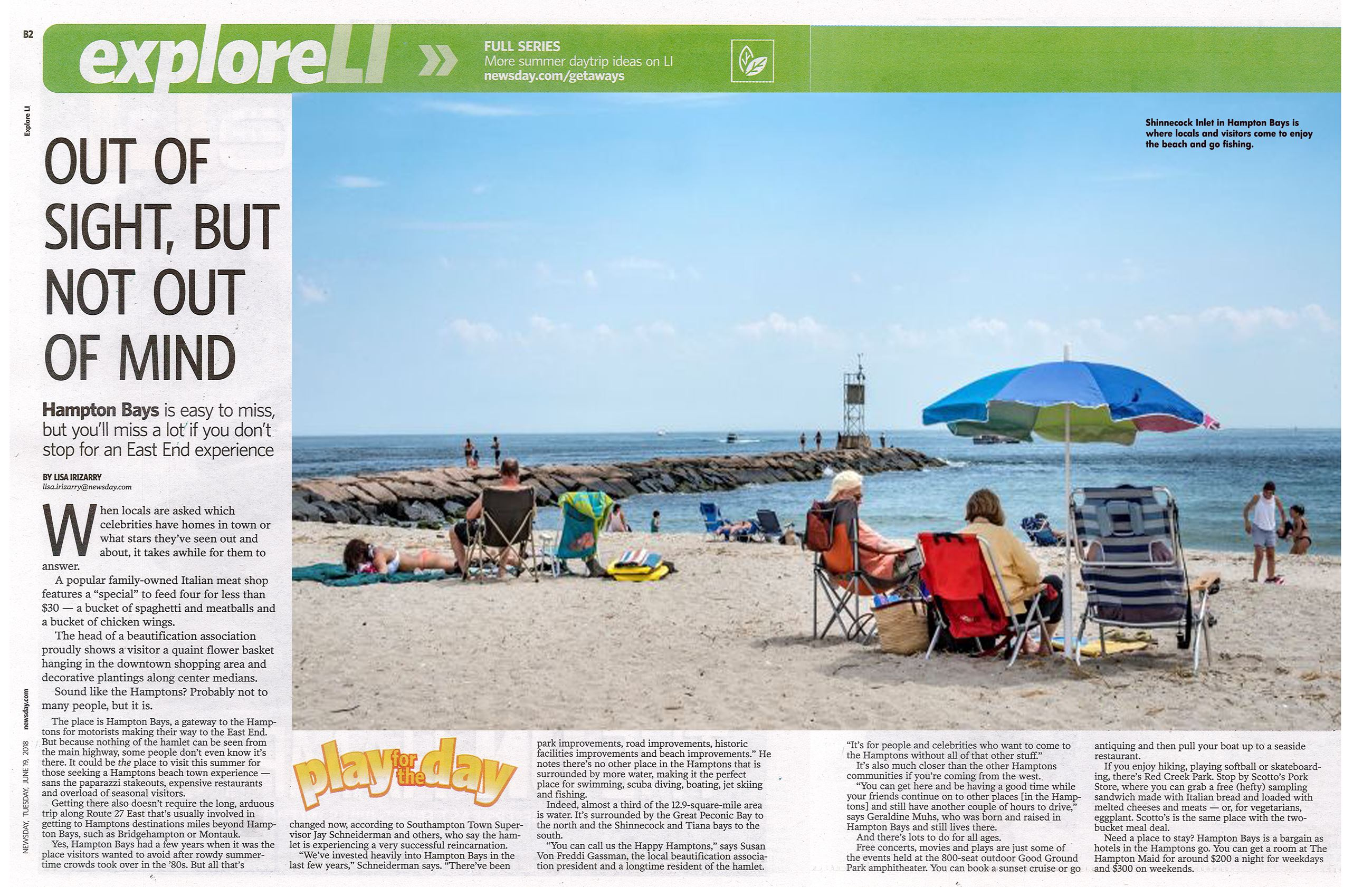 Hampton Bays Article -Newsday