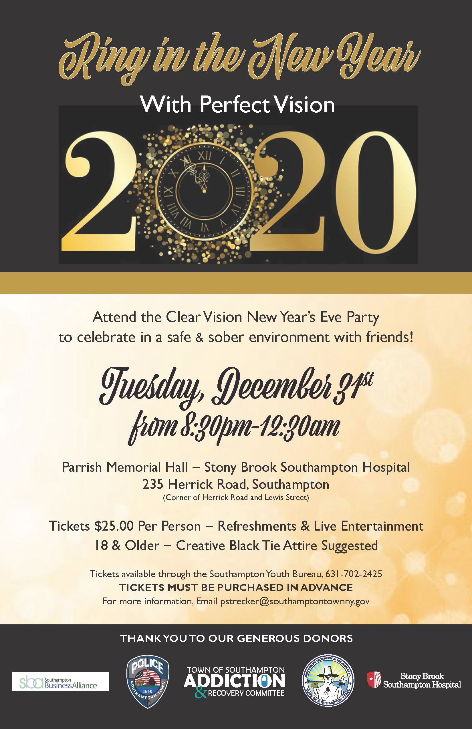 2020 Clear Vision Party poster