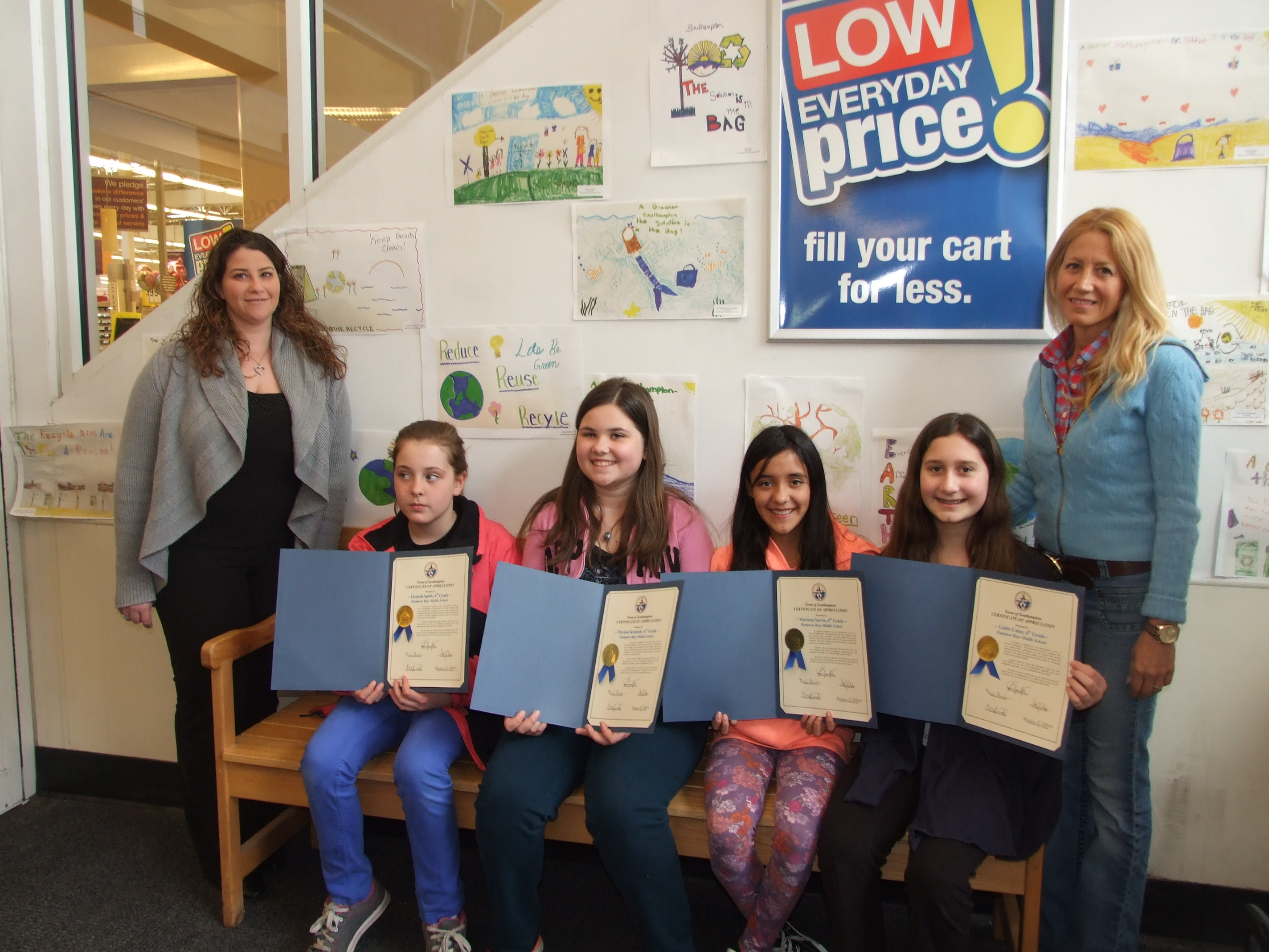 HB Middle School Poster Contest Winners at Stop an