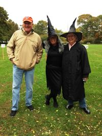 Parks & Rec Superintendent Chris Bean with judges Jean Bean and Carol Thorne
